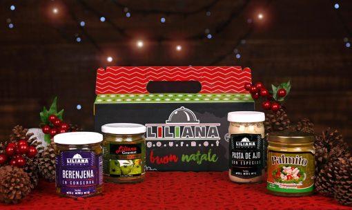 Caja navideña, productos conserva